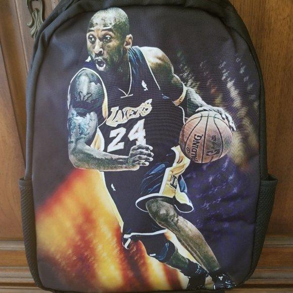 """Kobe Bryant 17"""" Backpack with USB Port & Speaker"""